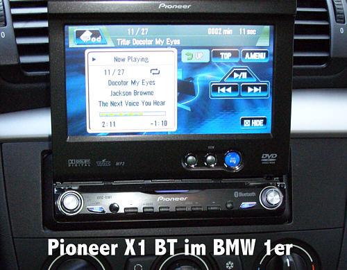 Pioneer Avic X1 Bt Pioneer X 1 Bt Einbau Im Bmw Golf